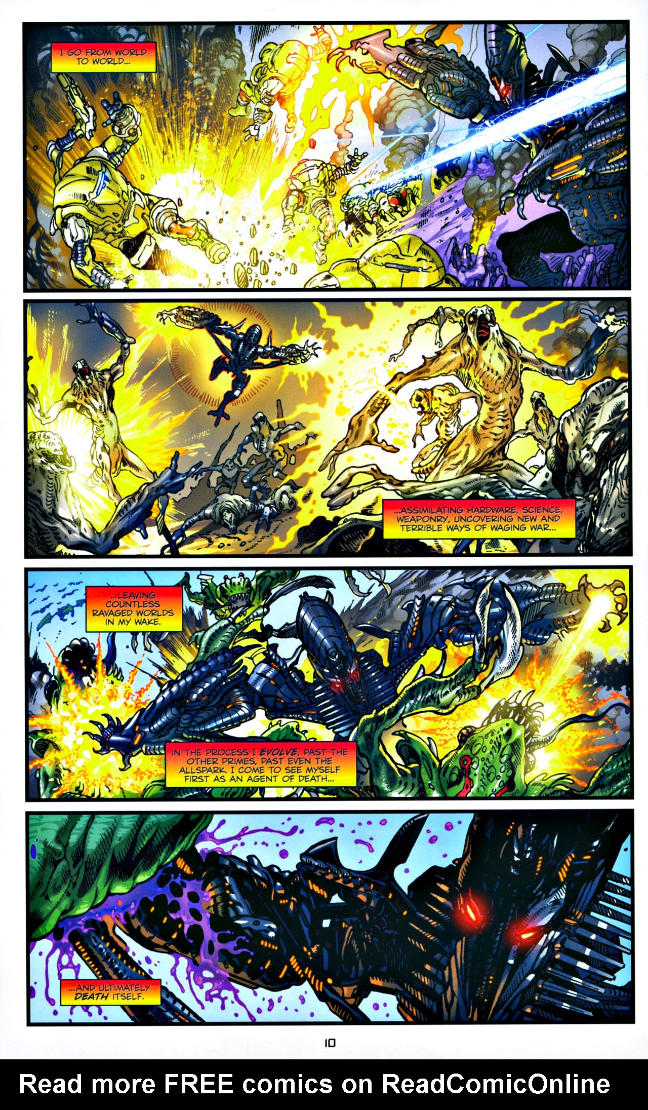 Read online Transformers: Tales of The Fallen comic -  Issue #4 - 11