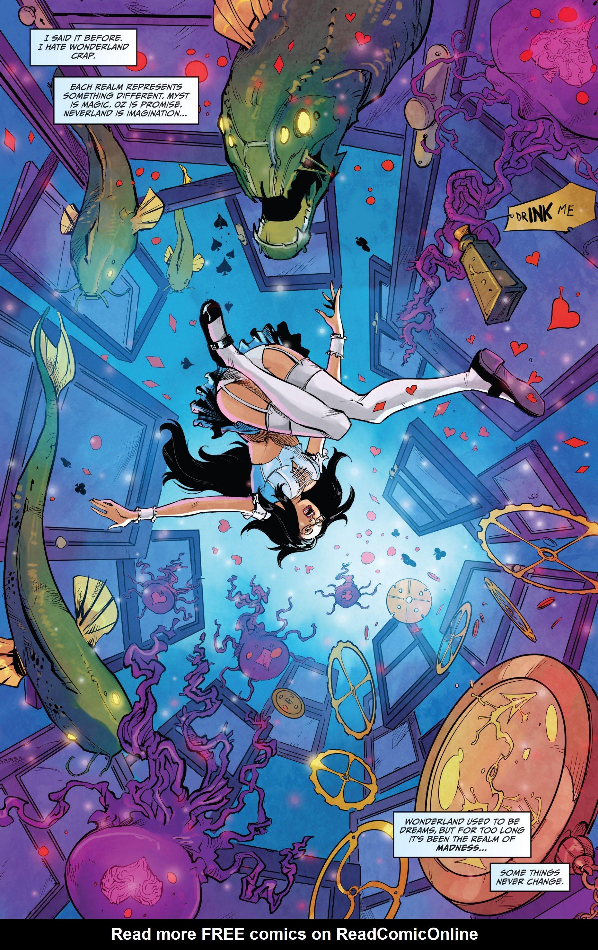 Read online Grimm Fairy Tales vs. Wonderland comic -  Issue #1 - 22