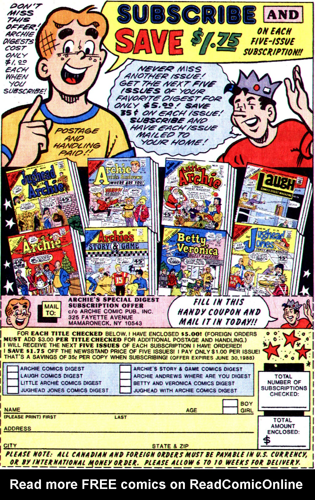 Read online Archie (1960) comic -  Issue #355 - 19