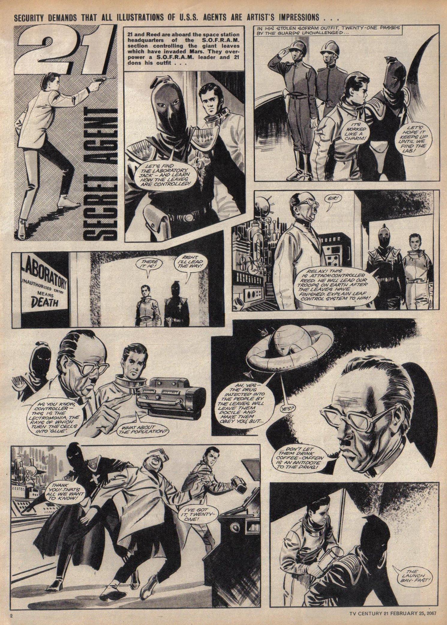 Read online TV Century 21 (TV 21) comic -  Issue #110 - 2