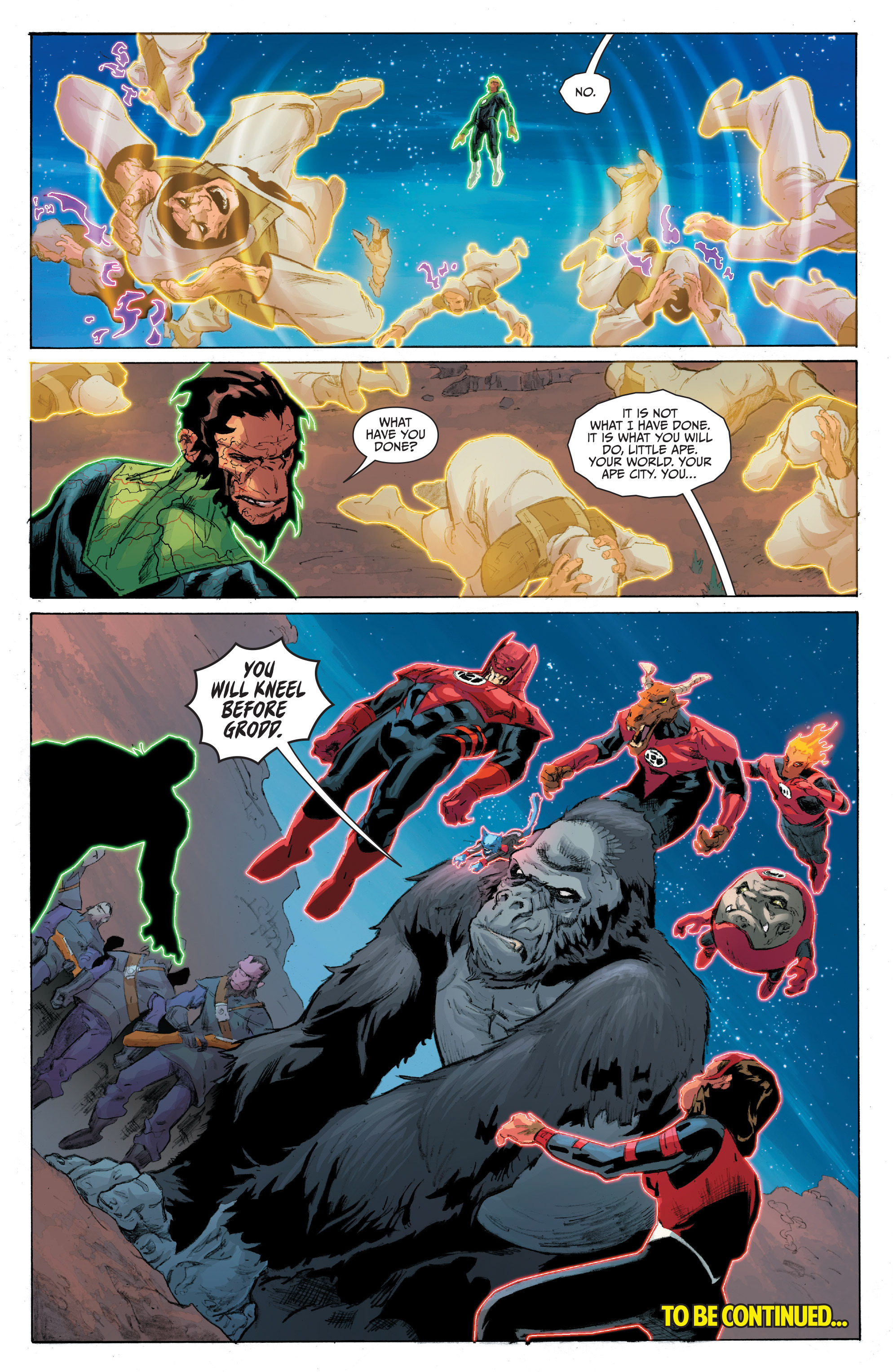 Read online Planet of the Apes/Green Lantern comic -  Issue #4 - 24