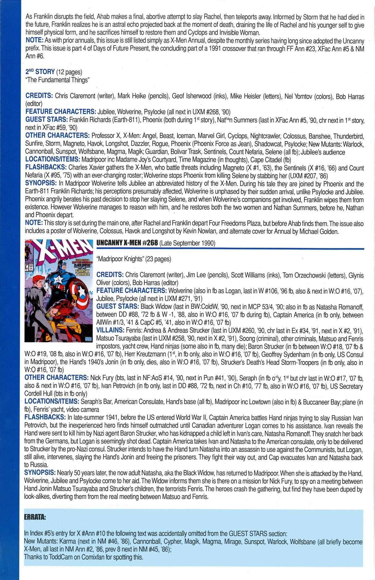 Read online Official Index to the Marvel Universe comic -  Issue #6 - 66
