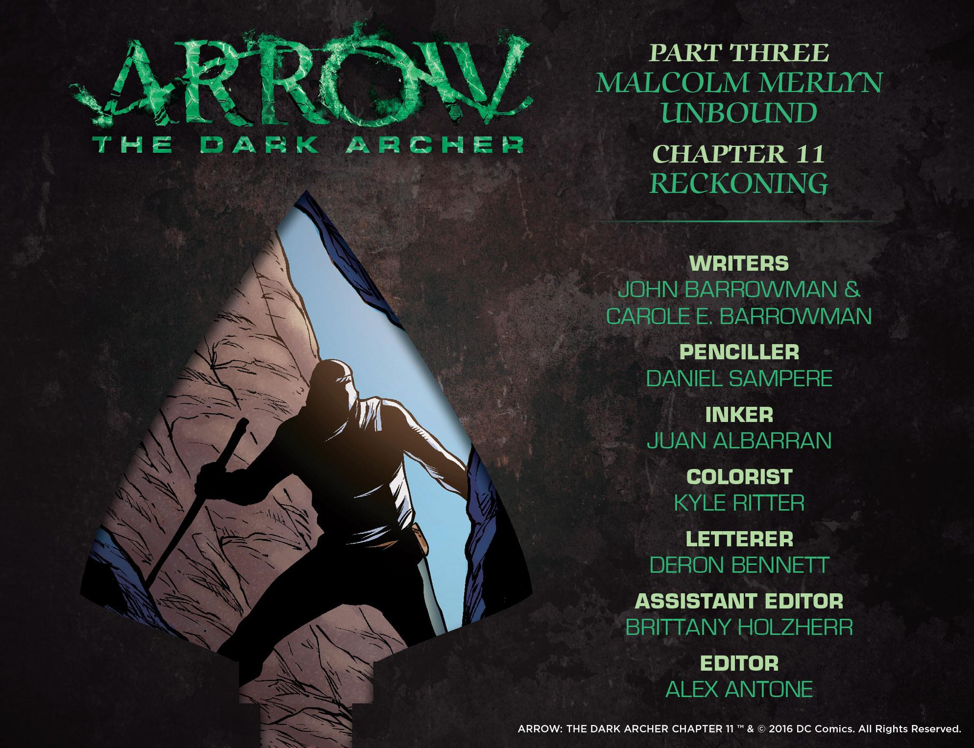 Read online Arrow: The Dark Archer comic -  Issue #11 - 2
