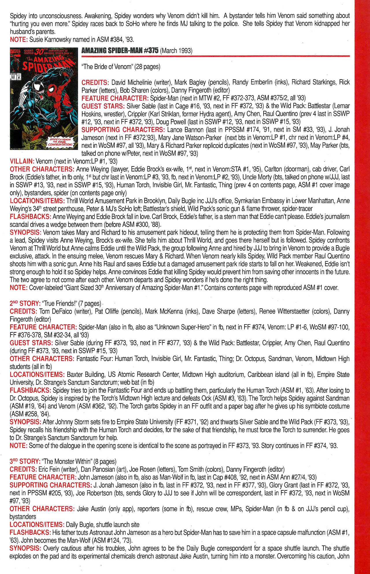 Read online Official Index to the Marvel Universe comic -  Issue #9 - 7