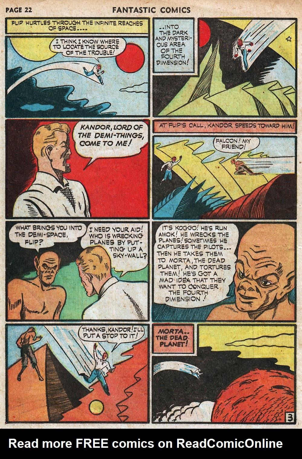 Read online Fantastic Comics comic -  Issue #18 - 24