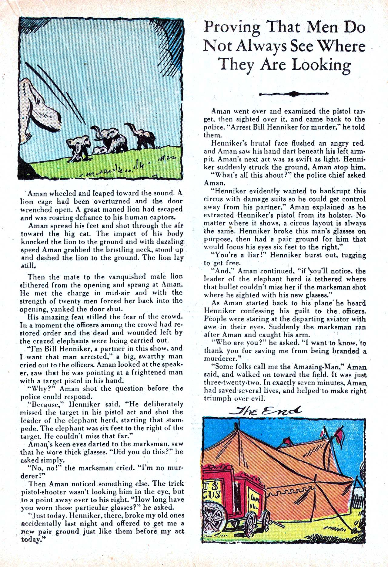 Read online Amazing Man Comics comic -  Issue #11 - 37