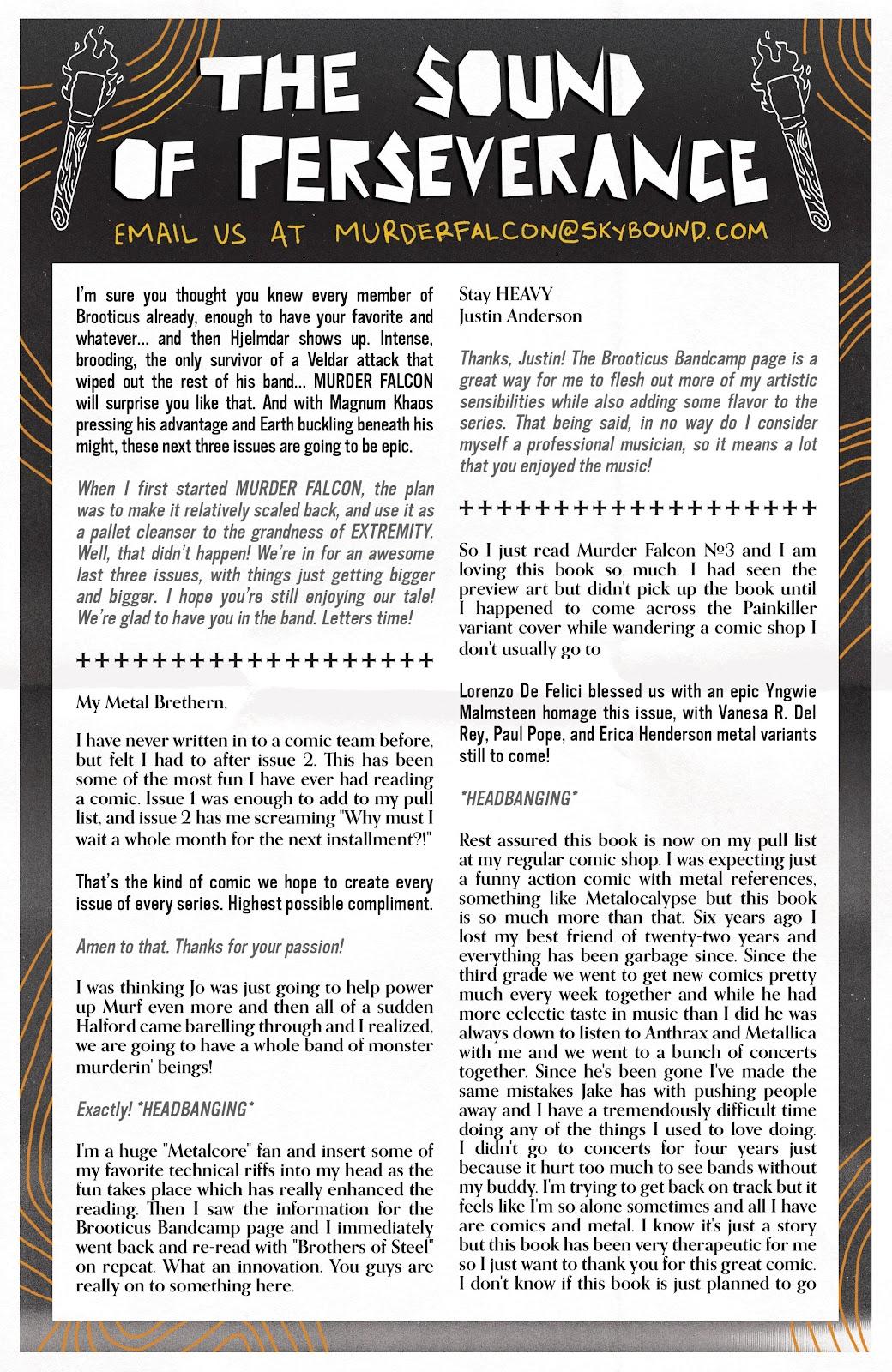 Read online Murder Falcon comic -  Issue #5 - 28