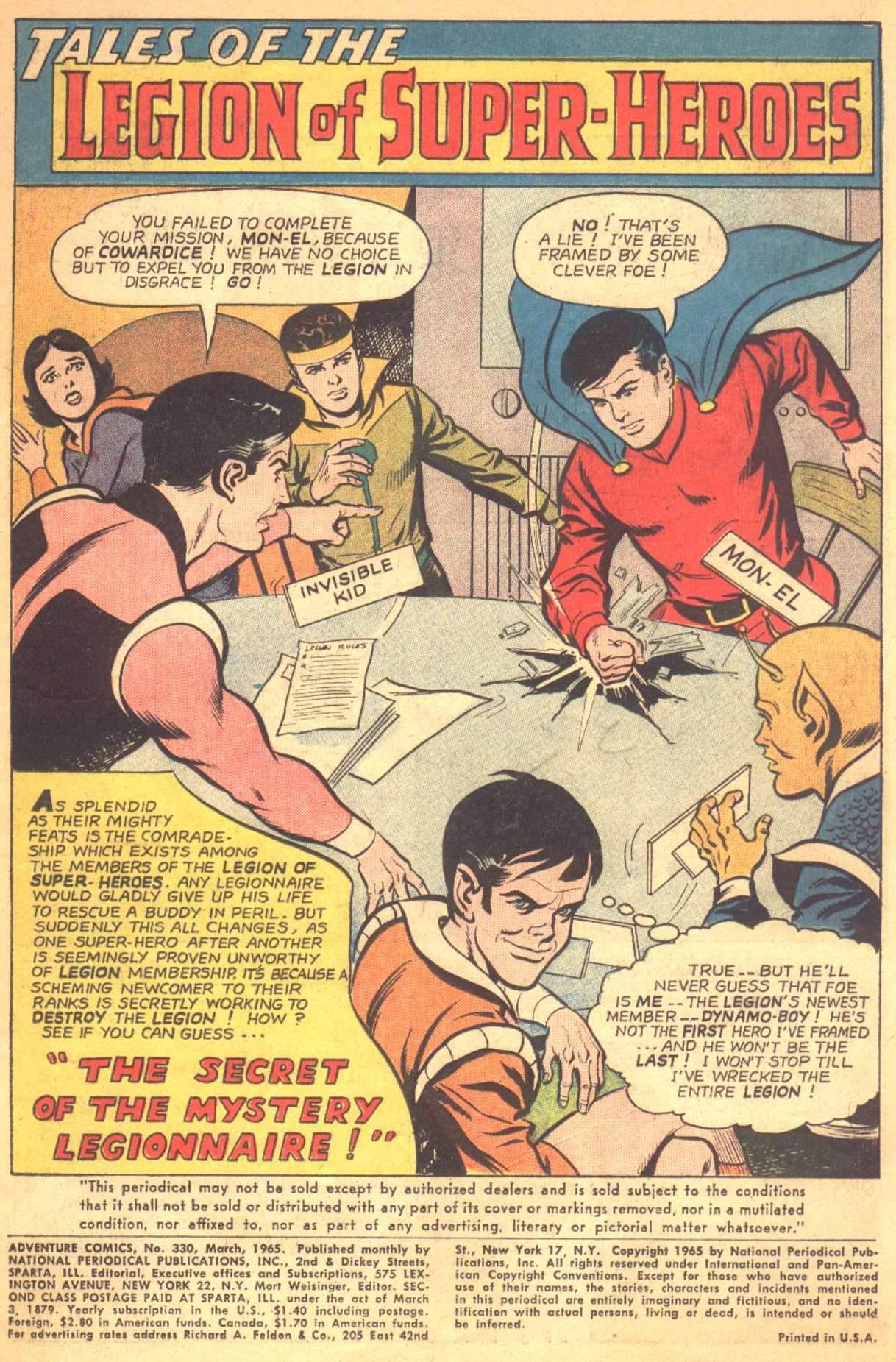Read online Adventure Comics (1938) comic -  Issue #330 - 2