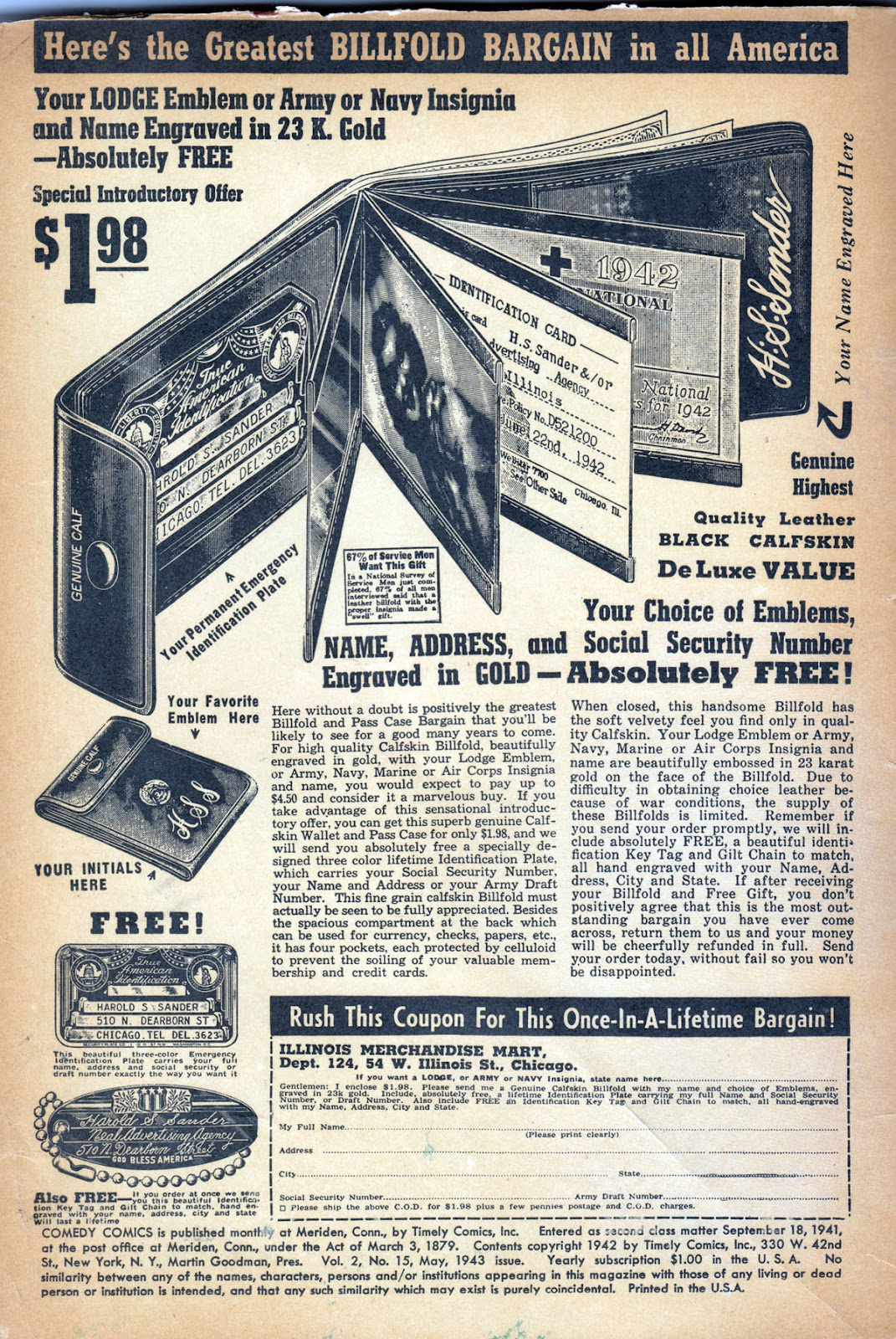 Read online Comedy Comics (1942) comic -  Issue #15 - 2