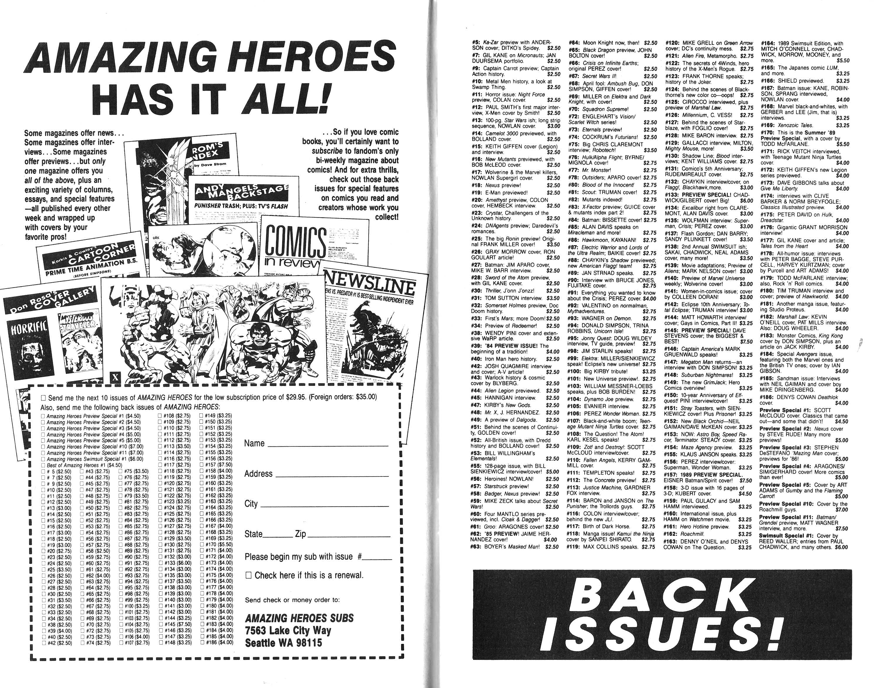 Read online Amazing Heroes comic -  Issue #189 - 4