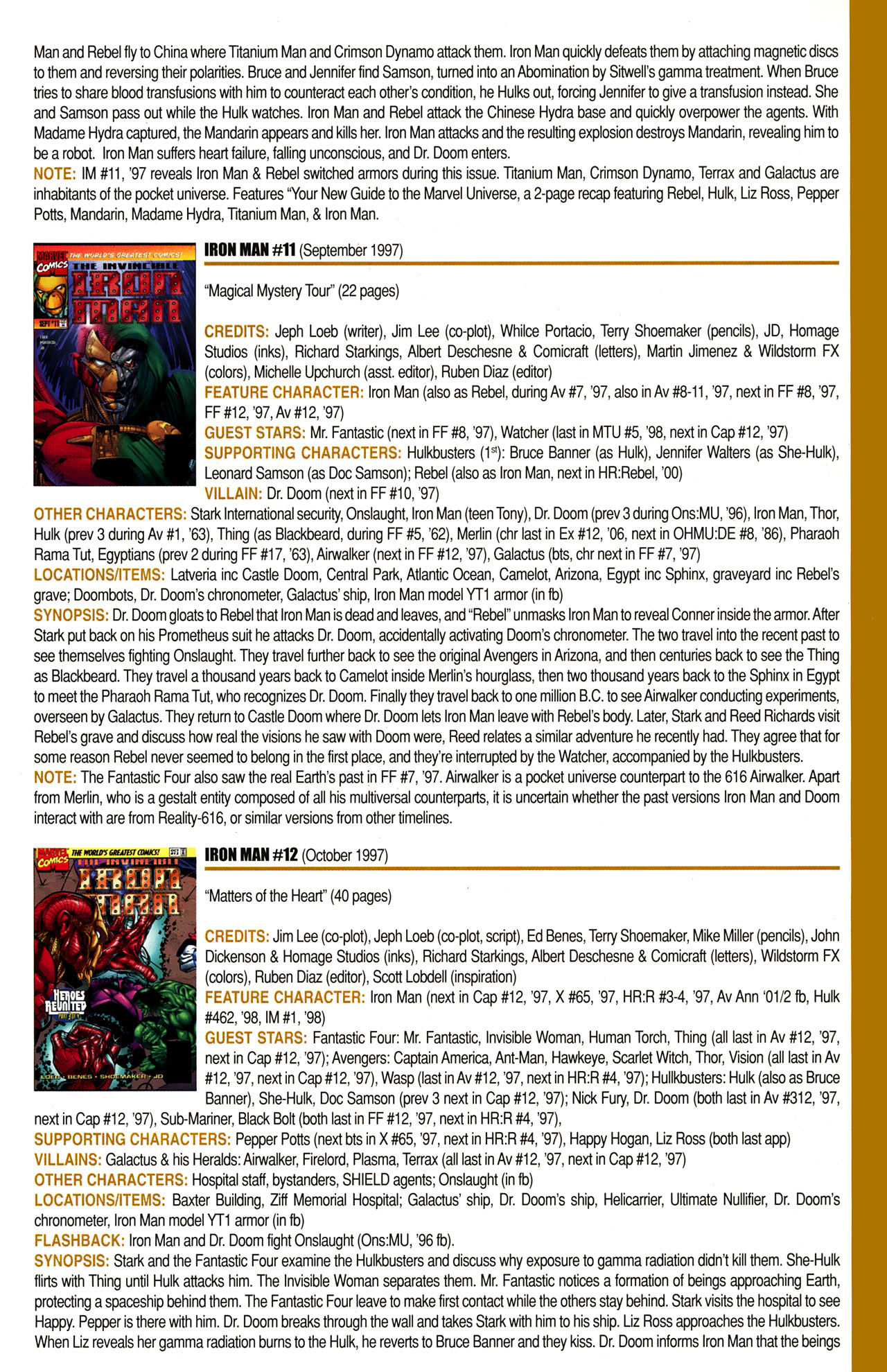 Read online Official Index to the Marvel Universe comic -  Issue #10 - 25