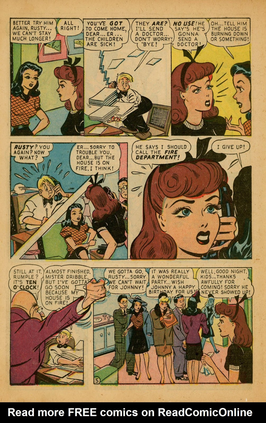 Read online Millie the Model comic -  Issue #7 - 38