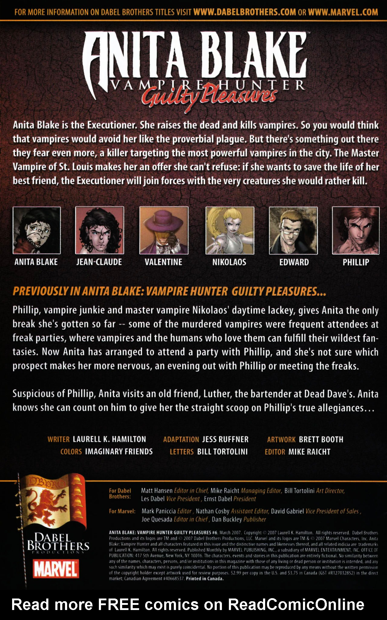 Read online Anita Blake, Vampire Hunter: Guilty Pleasures comic -  Issue #6 - 2