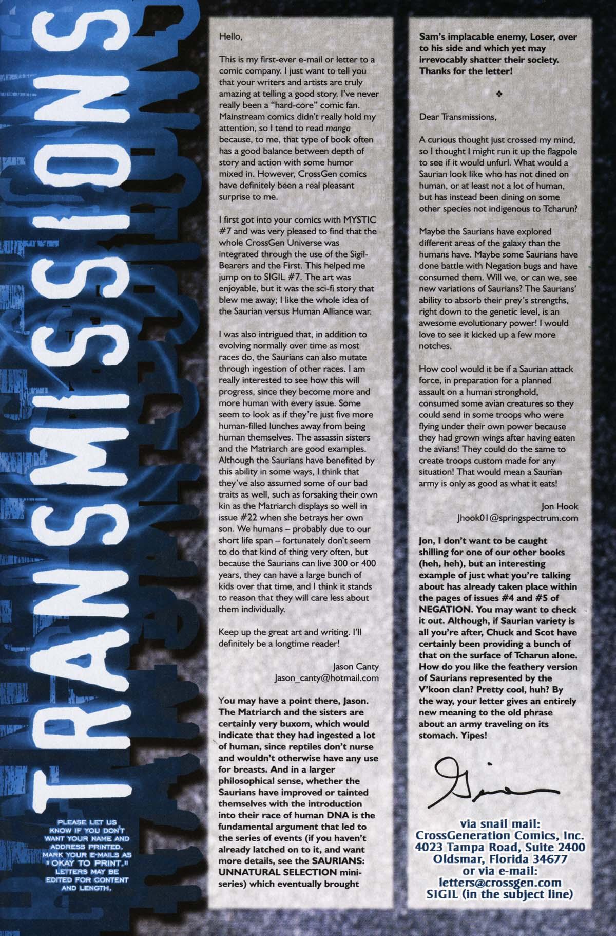 Read online Sigil (2000) comic -  Issue #25 - 35