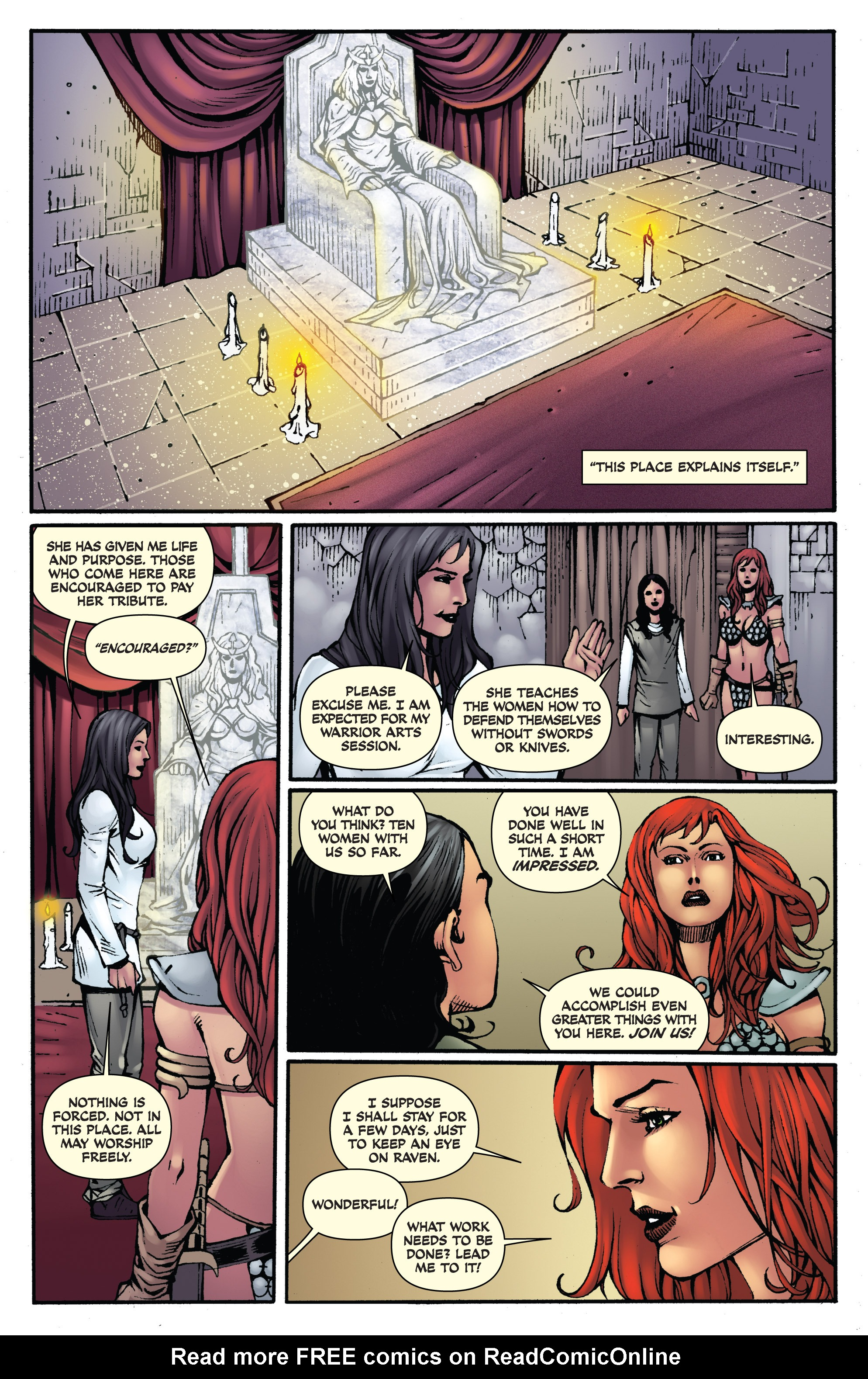 Read online Red Sonja: Sanctuary comic -  Issue # Full - 11