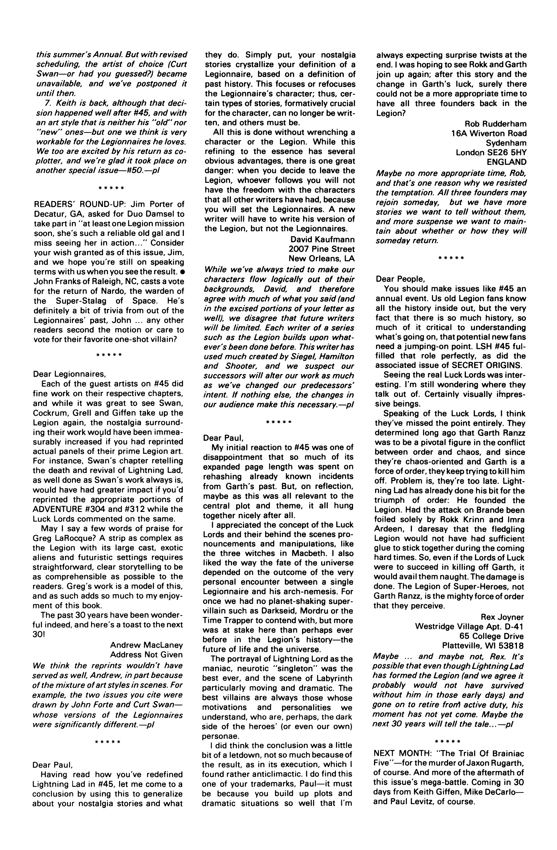 Legion of Super-Heroes (1984) 50 Page 44