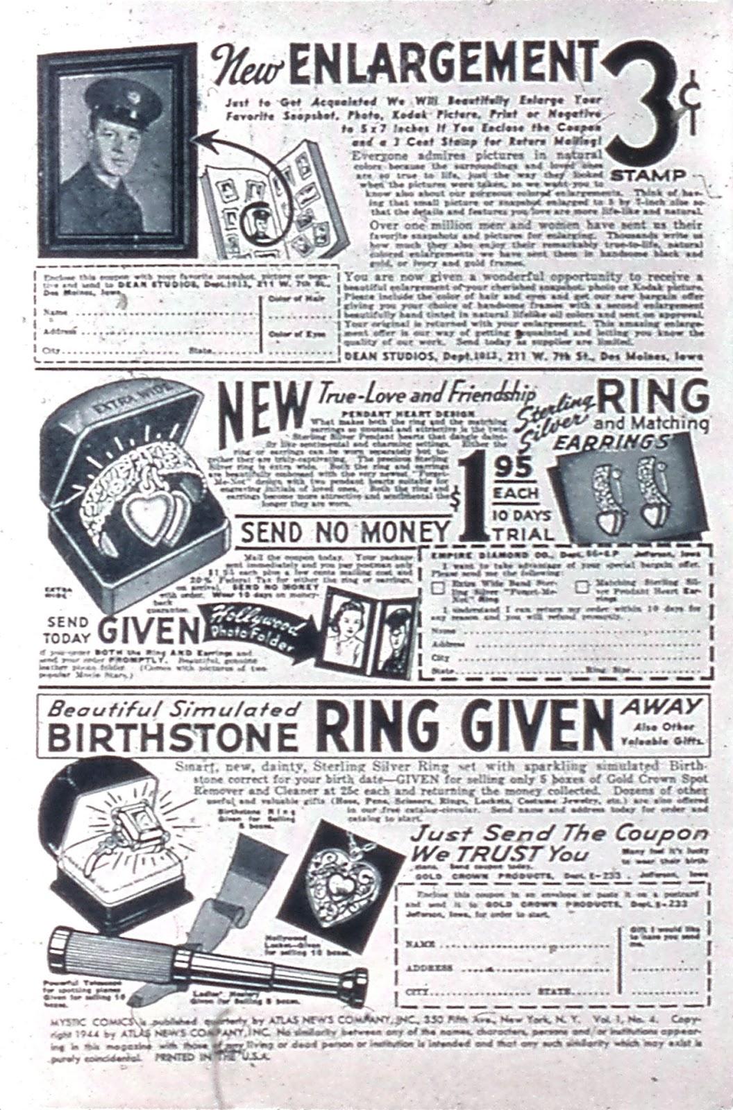 Read online Mystic Comics (1944) comic -  Issue #4 - 2