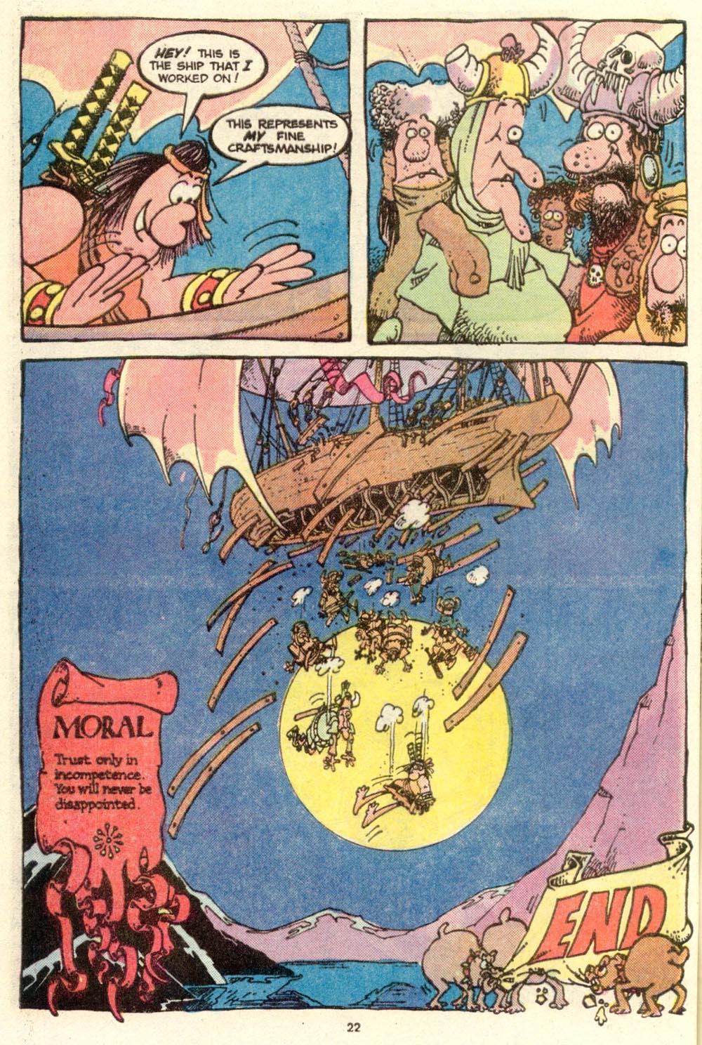 Read online Sergio Aragonés Groo the Wanderer comic -  Issue #16 - 23