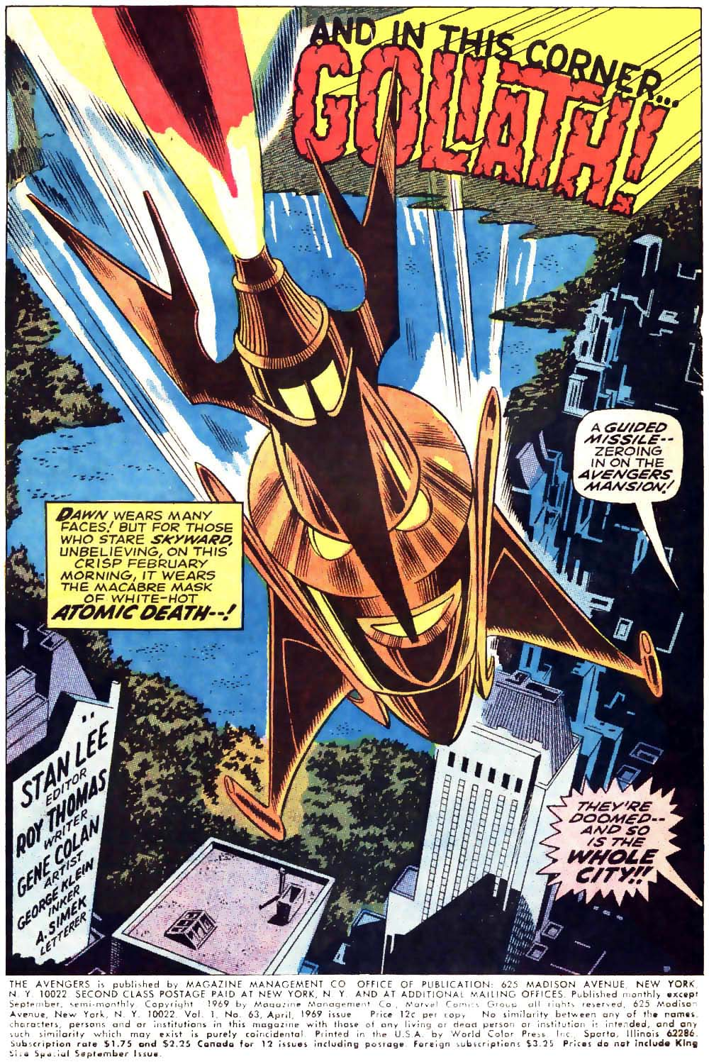 The Avengers (1963) 63 Page 1
