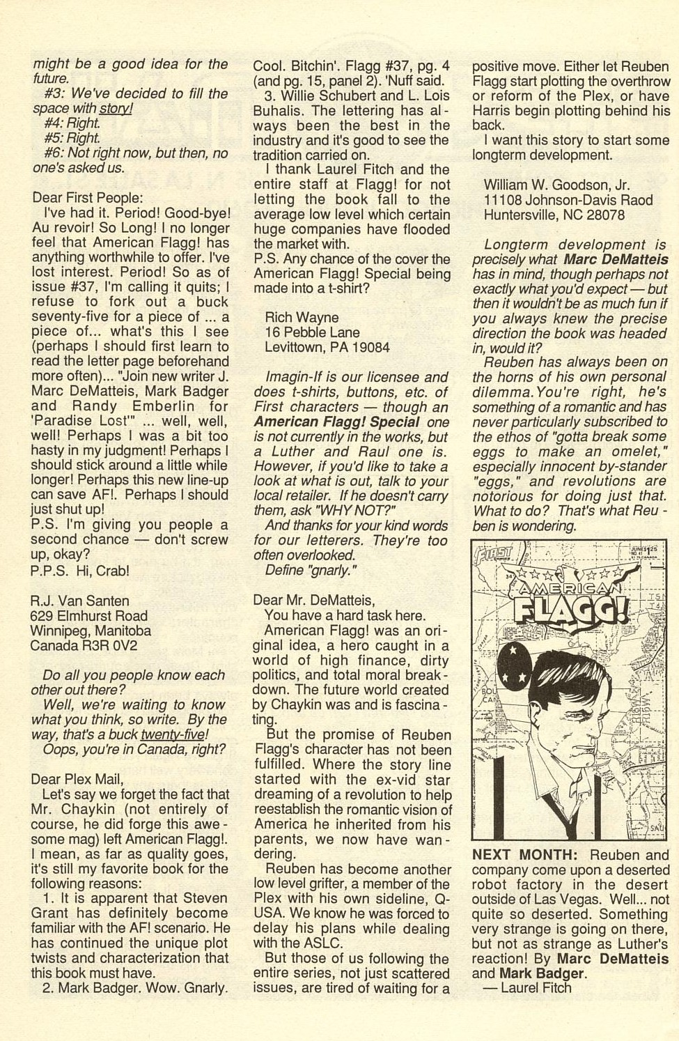 Read online American Flagg! comic -  Issue #40 - 34