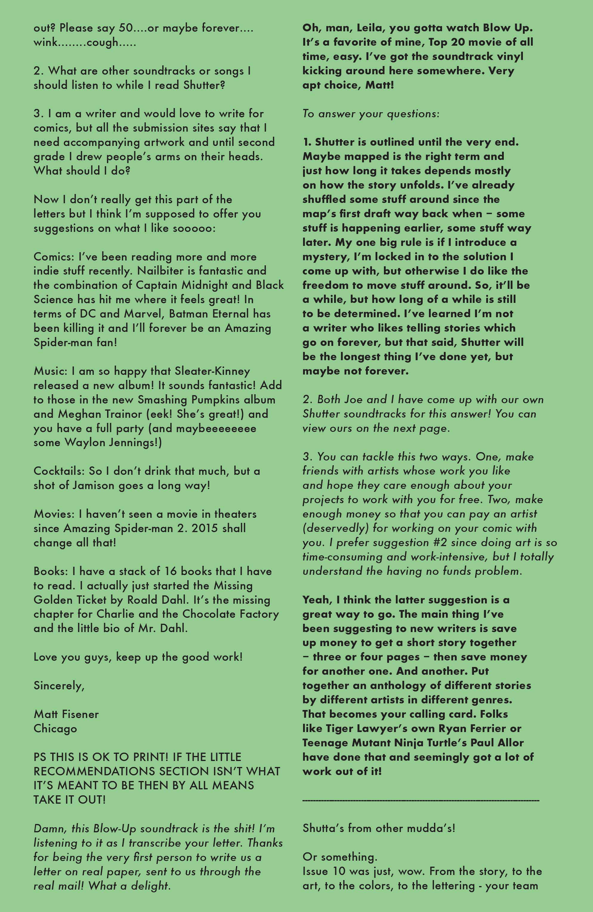 Read online Shutter comic -  Issue #11 - 23