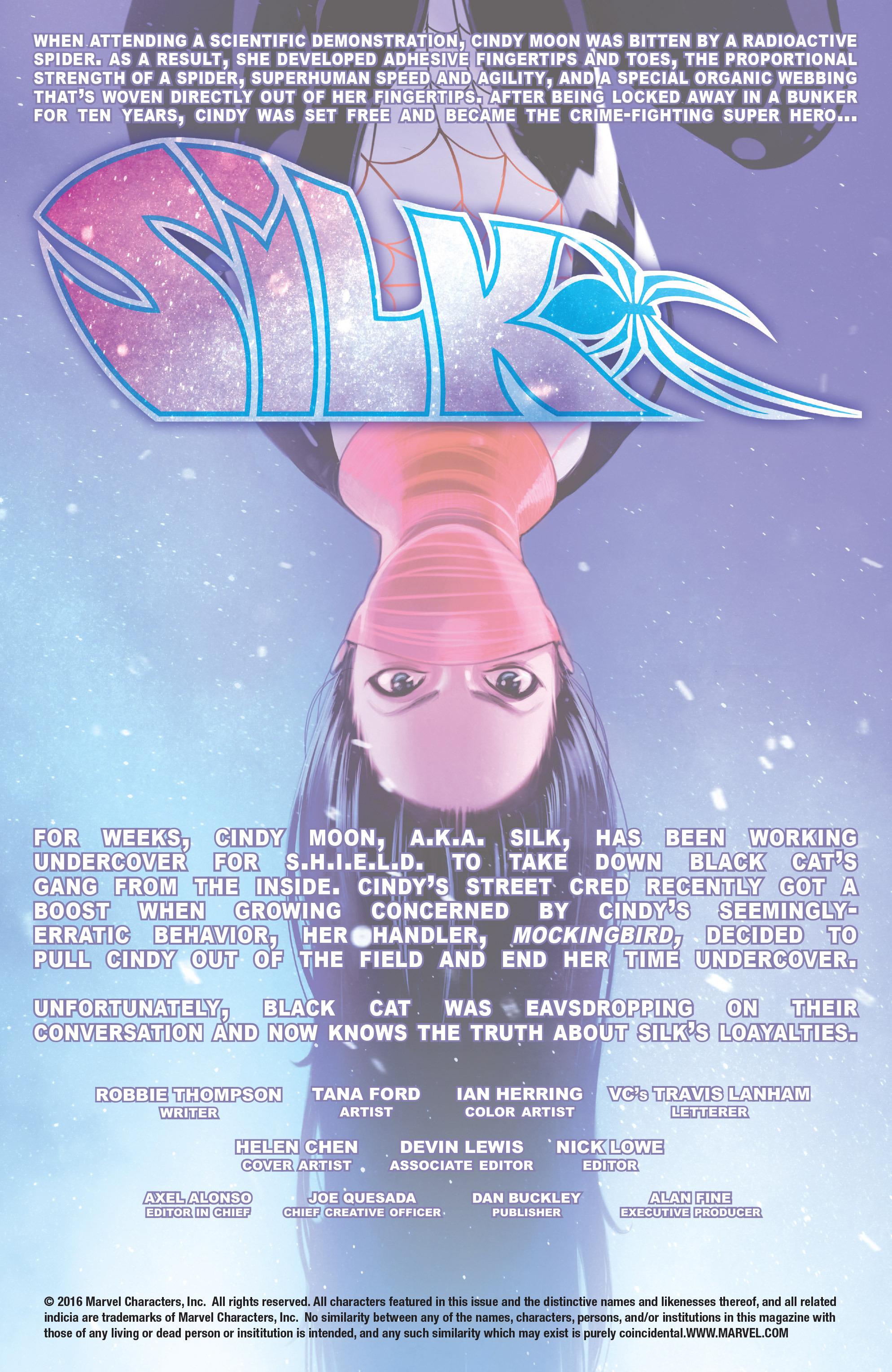 Read online Silk (2016) comic -  Issue #10 - 2