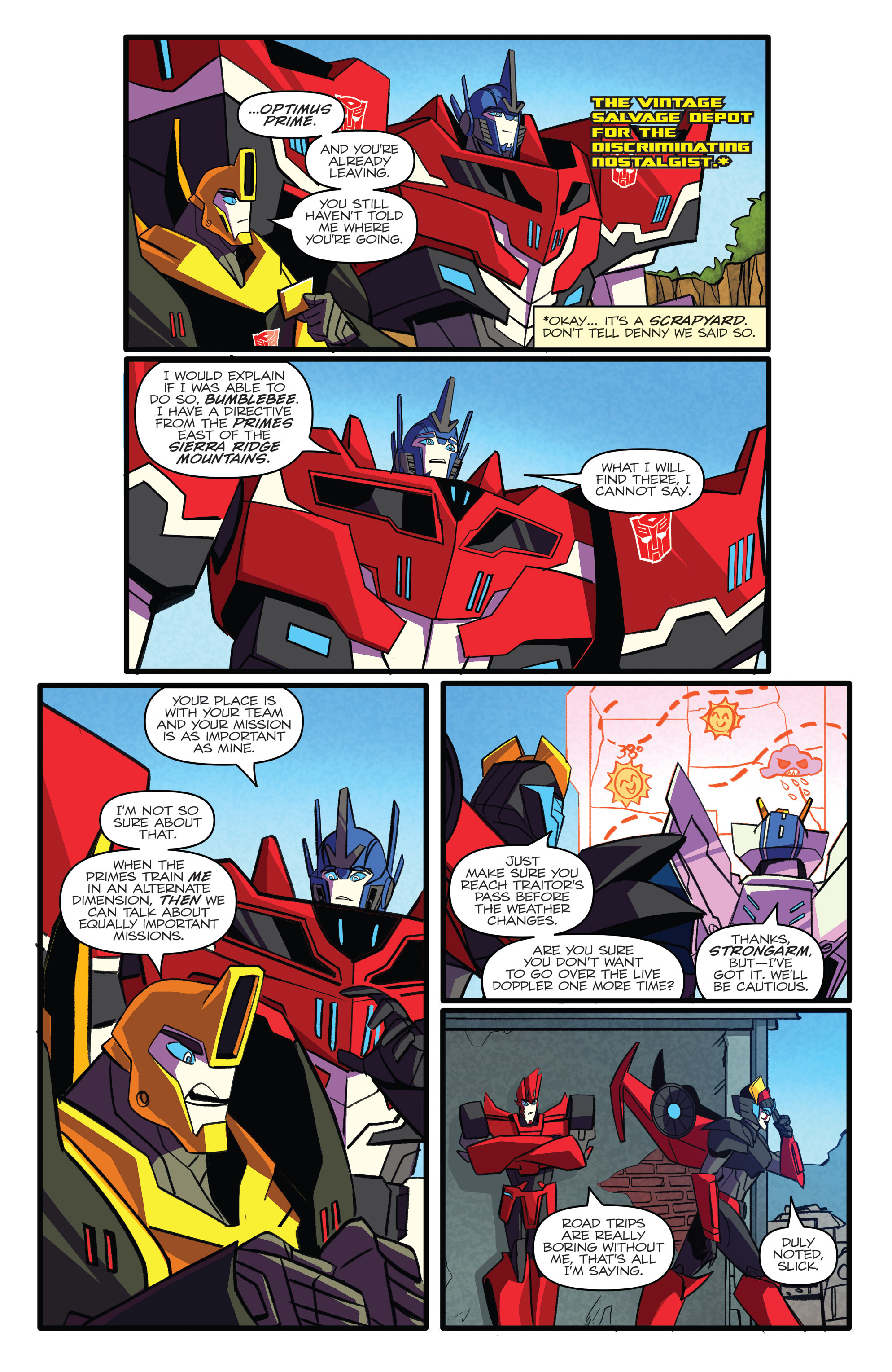 Read online Transformers: Robots In Disguise (2015) comic -  Issue #5 - 6