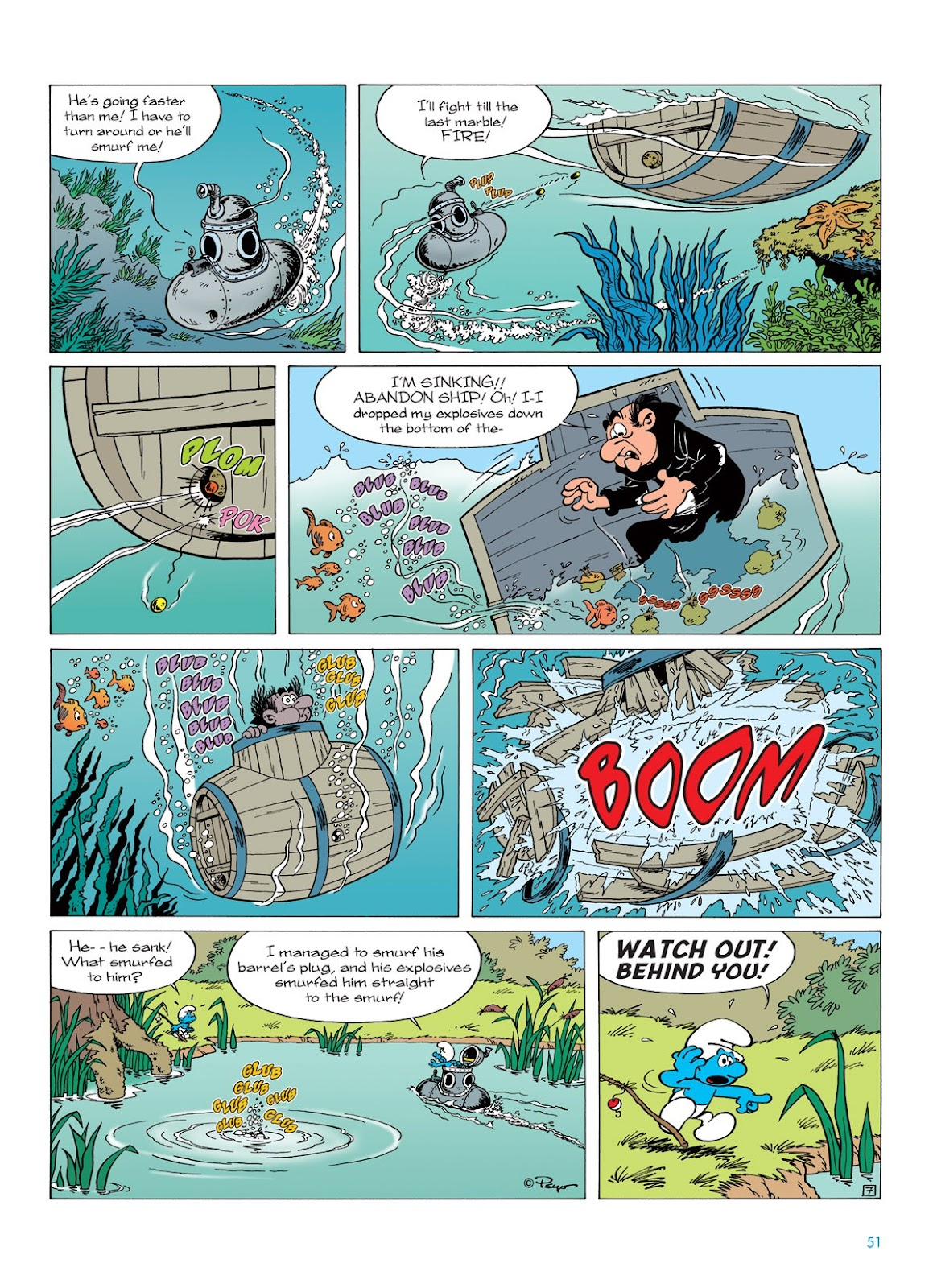 Read online The Smurfs comic -  Issue #7 - 51