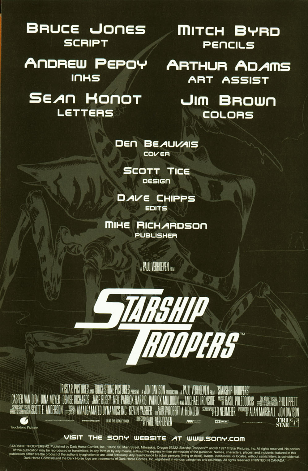 Read online Starship Troopers comic -  Issue #2 - 2