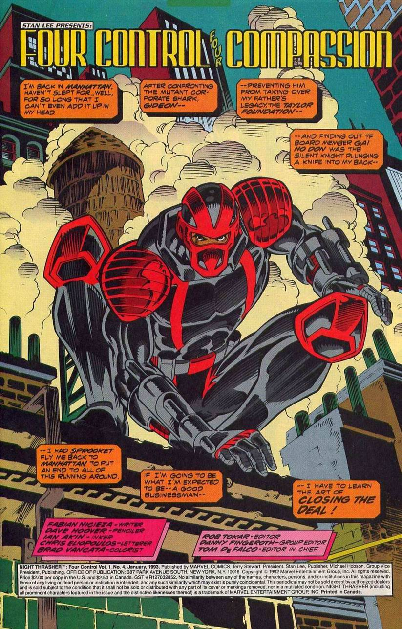 Night Thrasher: Four Control 4 Page 2