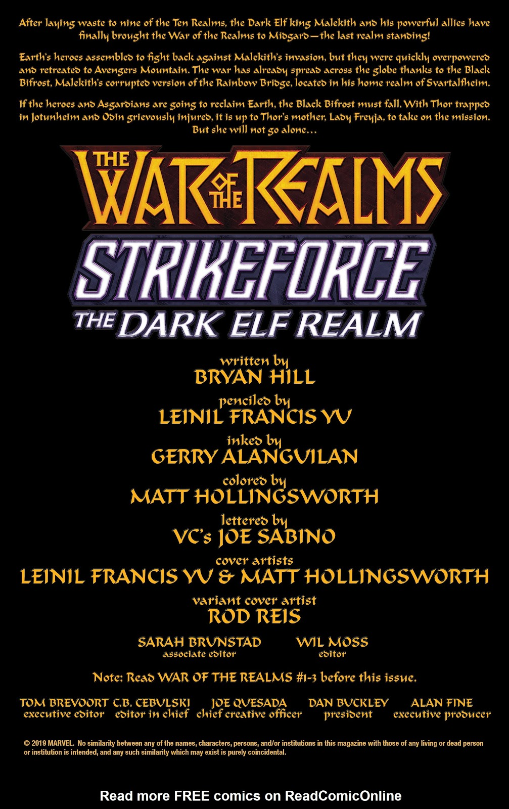 Read online War Of The Realms Strikeforce comic -  Issue # The Dark Elf Realm - 2