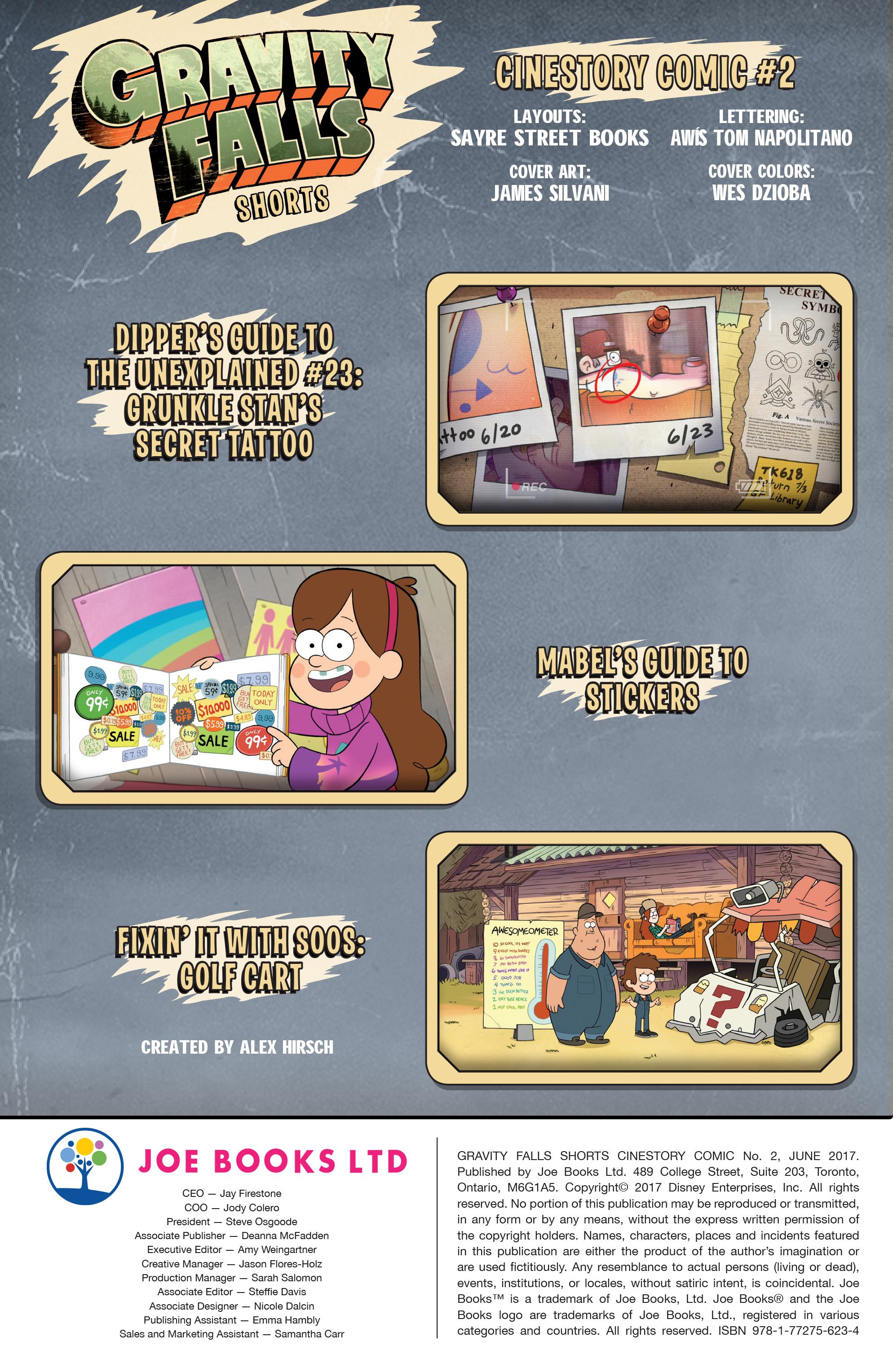 Read online Disney Gravity Falls Shorts Cinestory Comic comic -  Issue #2 - 2