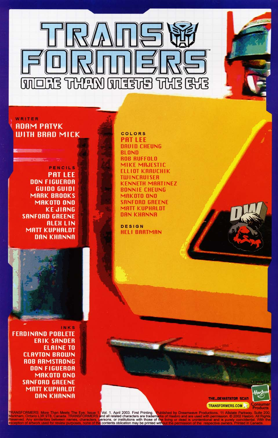 Read online Transformers: More than Meets the Eye comic -  Issue #1 - 2