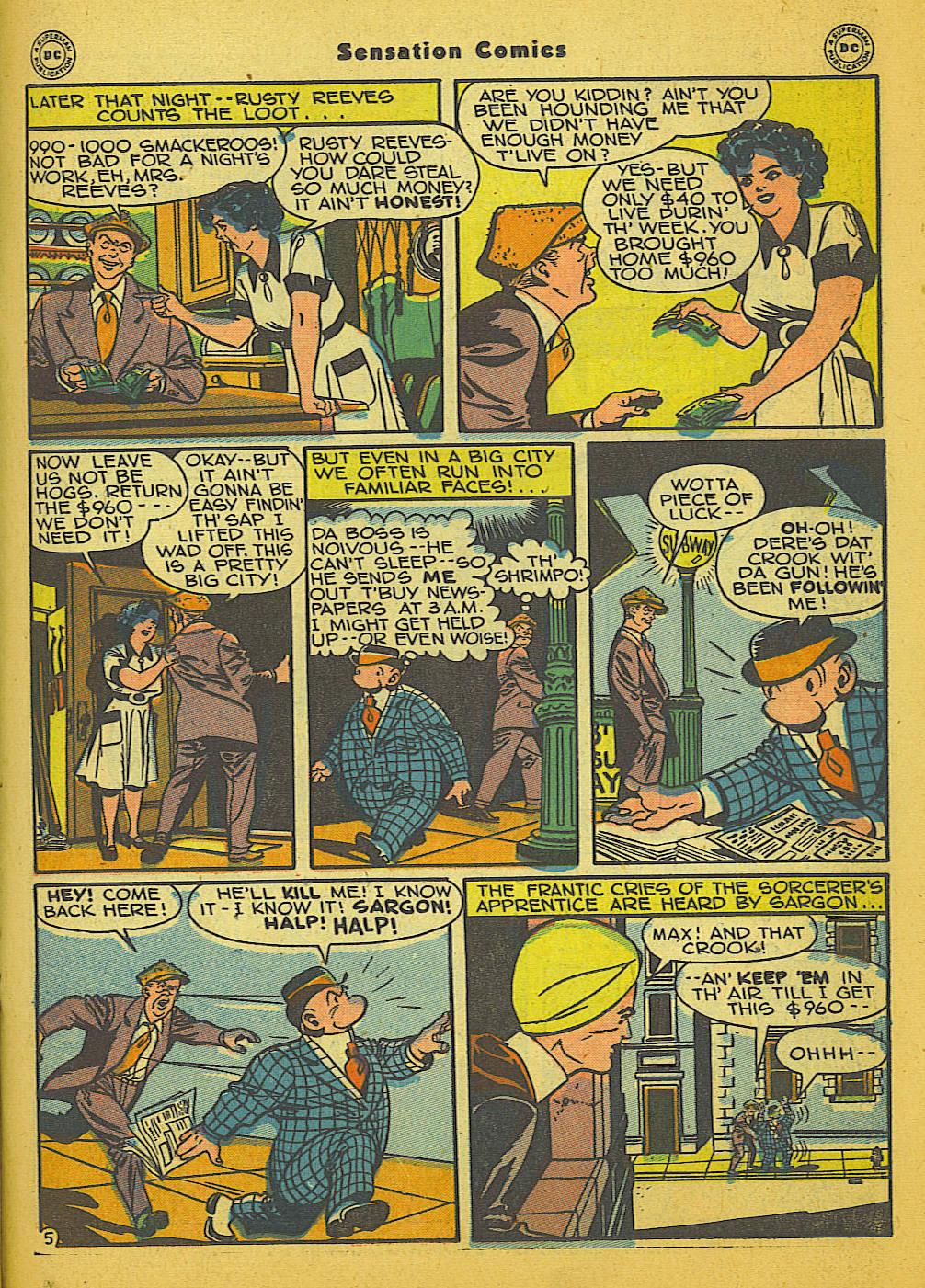 Read online Sensation (Mystery) Comics comic -  Issue #66 - 29
