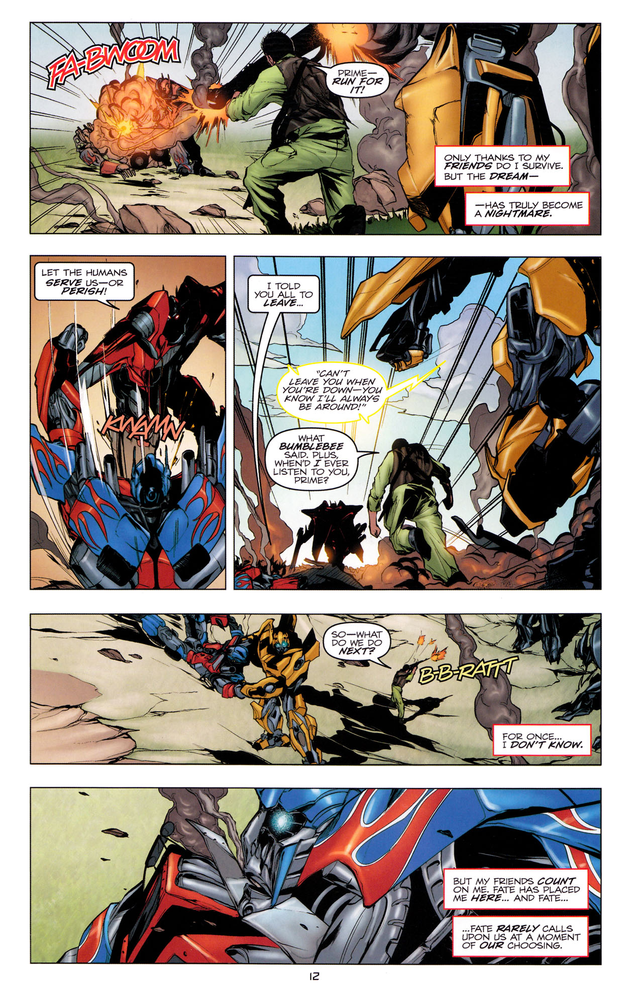 Read online Transformers: Dark of the Moon Movie Adaptation comic -  Issue #3 - 14