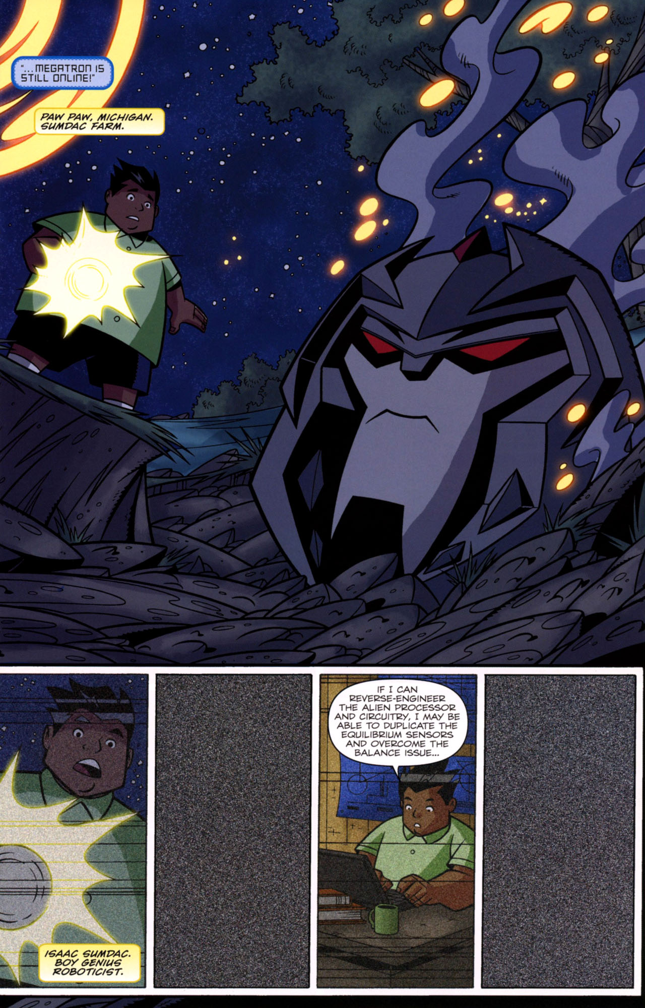 Read online Transformers Animated: The Arrival comic -  Issue #1 - 12