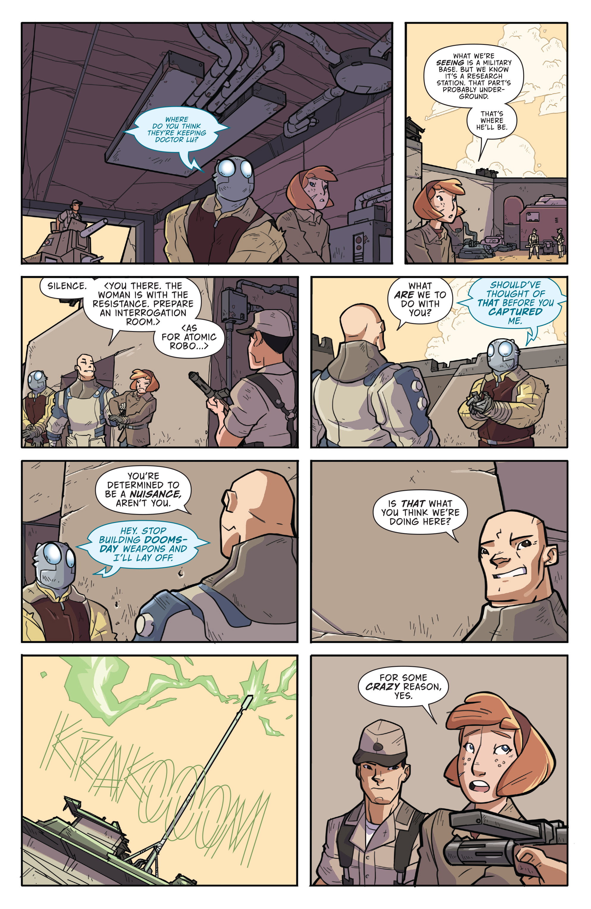 Read online Atomic Robo and the Temple of Od comic -  Issue #2 - 9