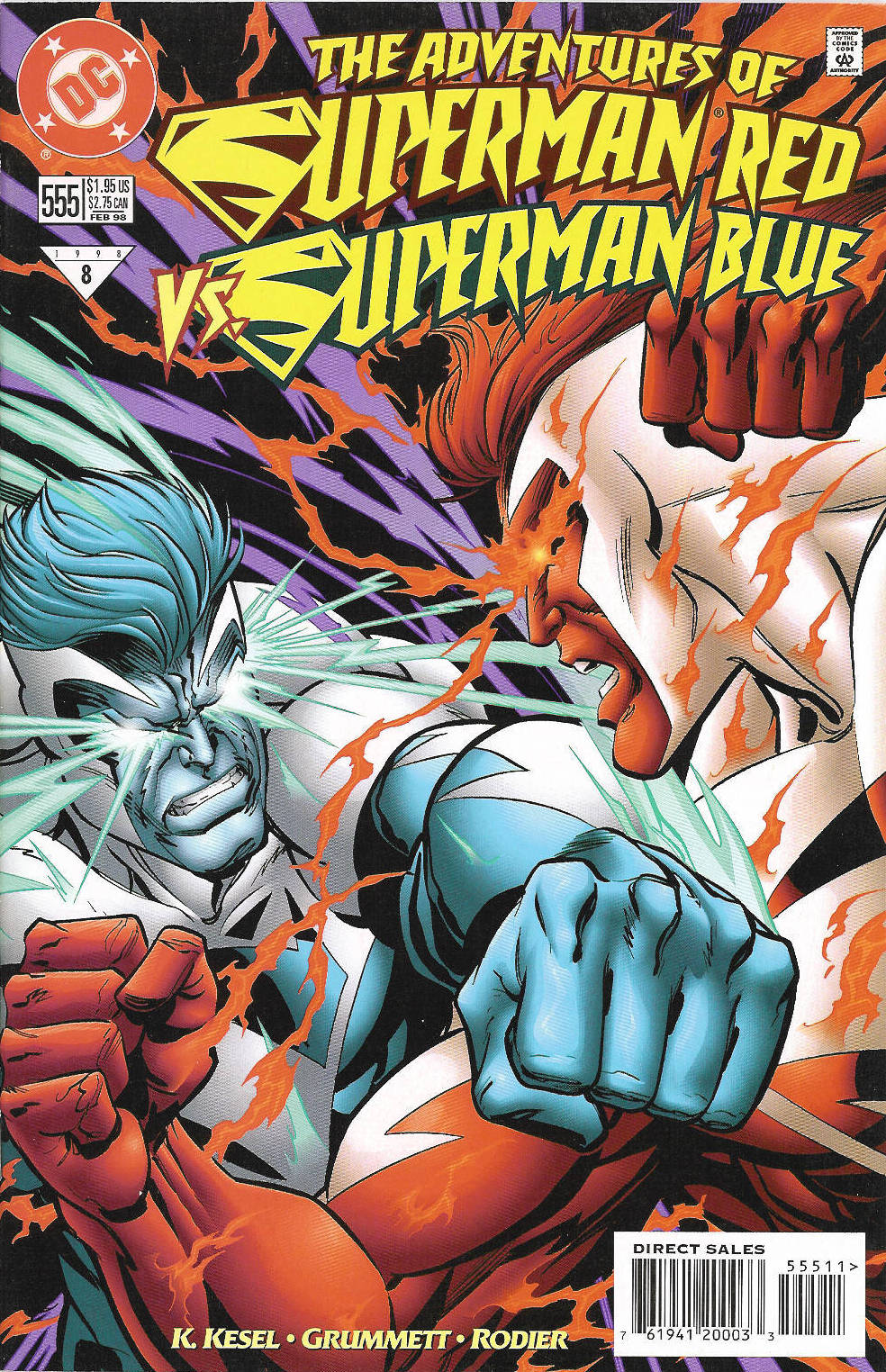 Read online Adventures of Superman (1987) comic -  Issue #555 - 1