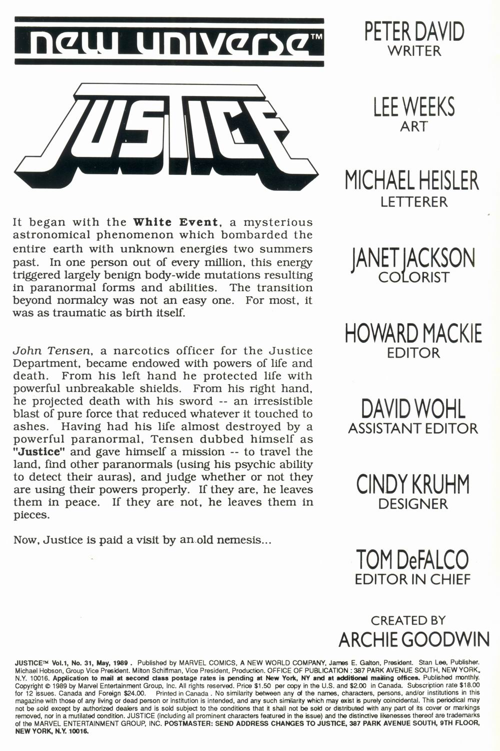 Justice (1986) 31 Page 2