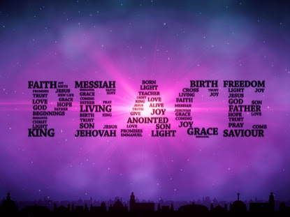 A word cloud of the word PEACE made up of other words related to Peace