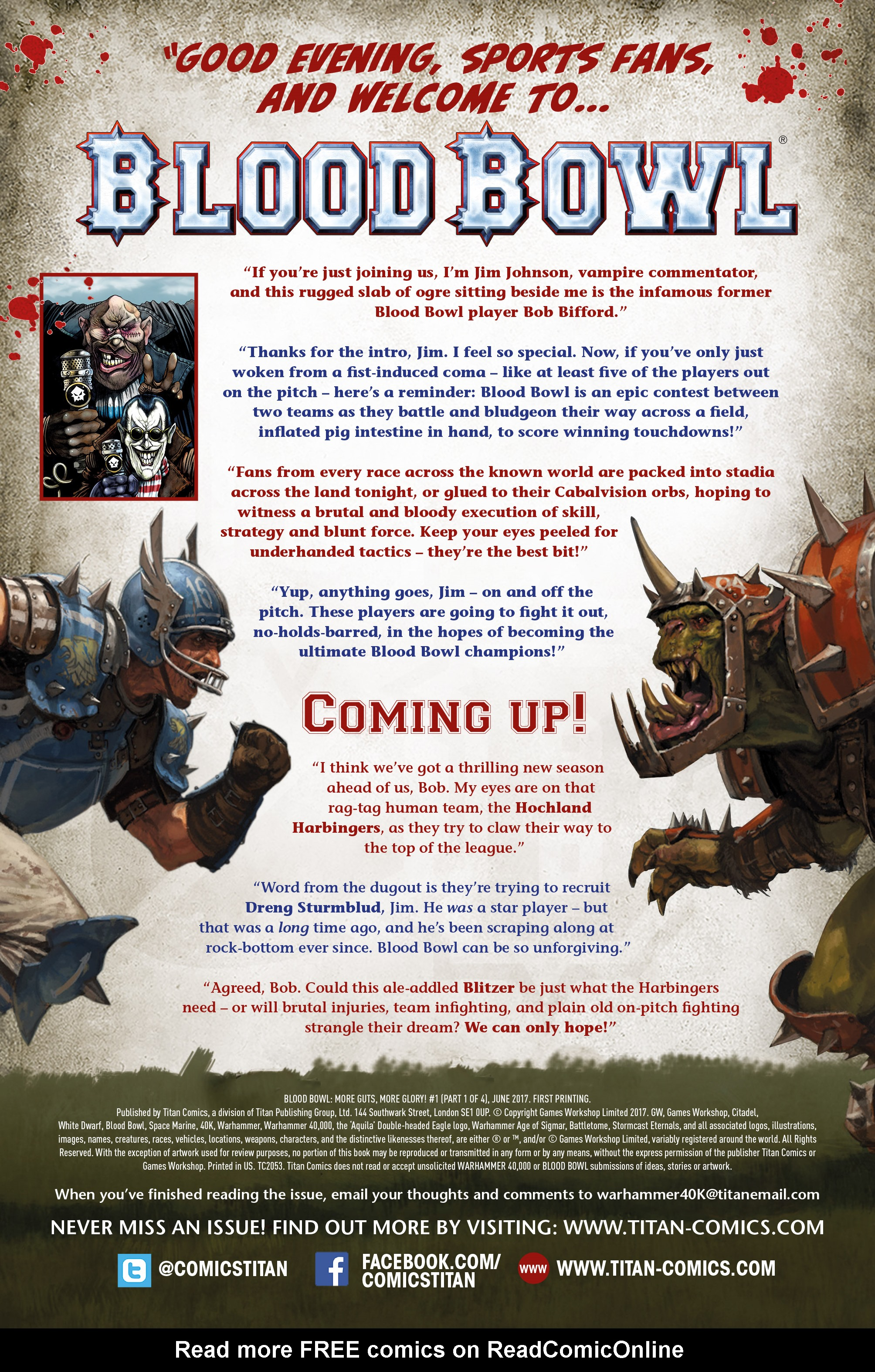 Read online Blood Bowl: More Guts, More Glory! comic -  Issue #1 - 6