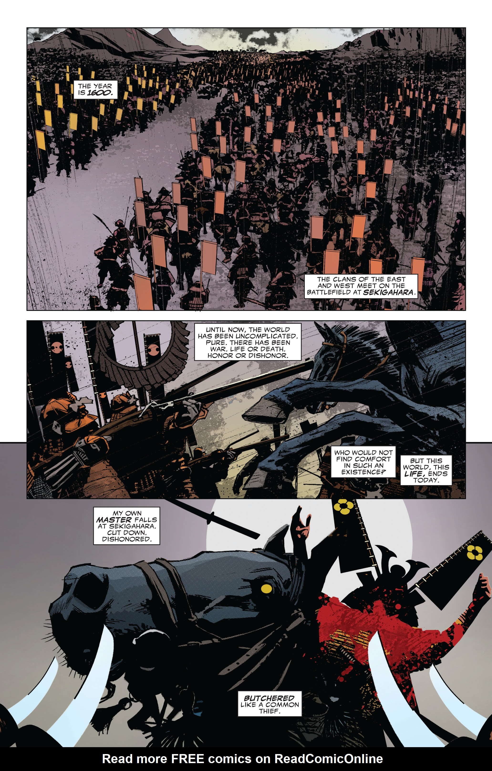 Read online 5 Ronin (2011) comic -  Issue #1 - 2
