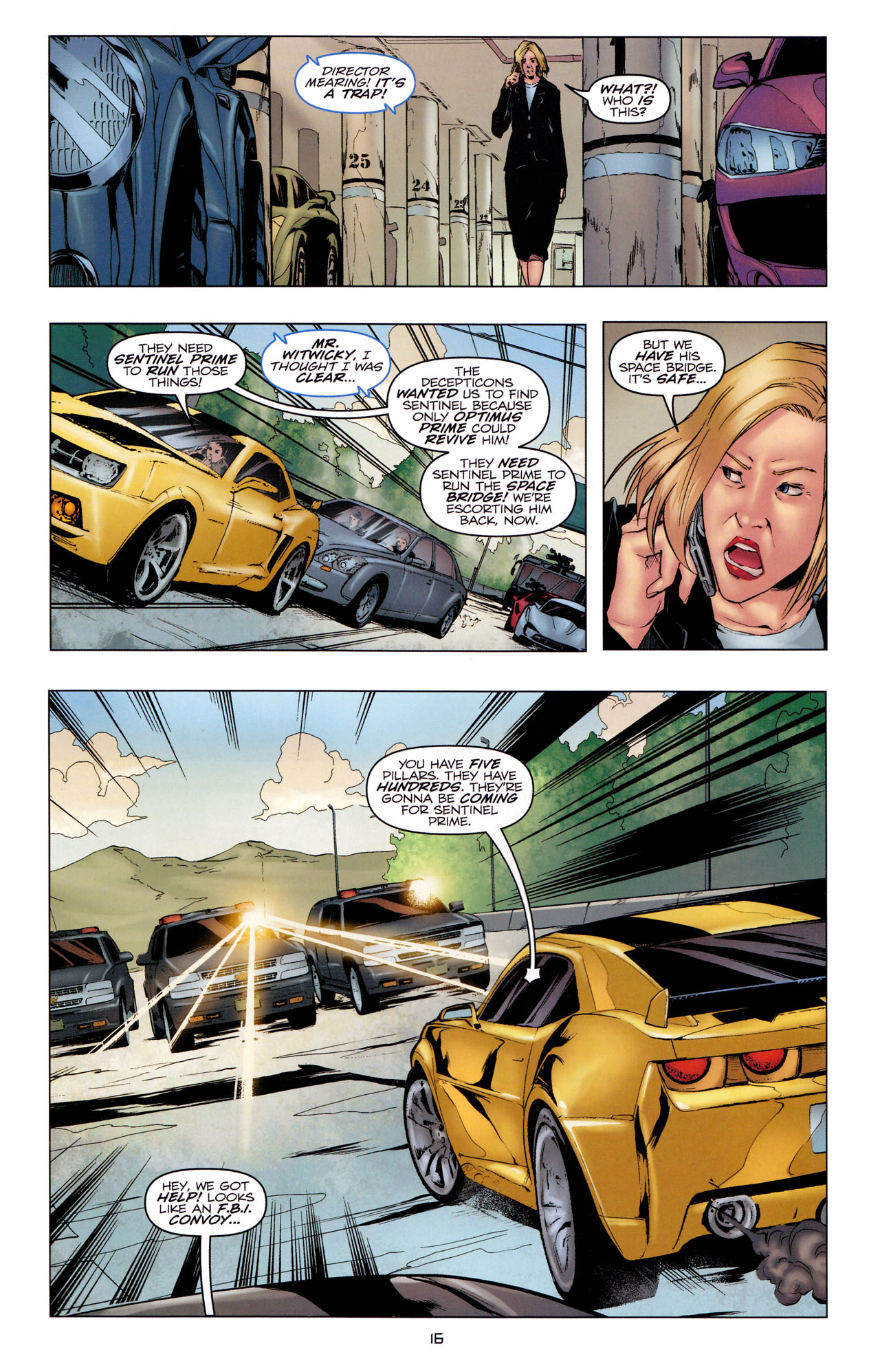 Read online Transformers: Dark of the Moon Movie Adaptation comic -  Issue #2 - 18