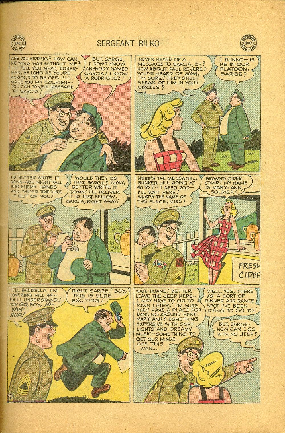 Sergeant Bilko issue 1 - Page 23