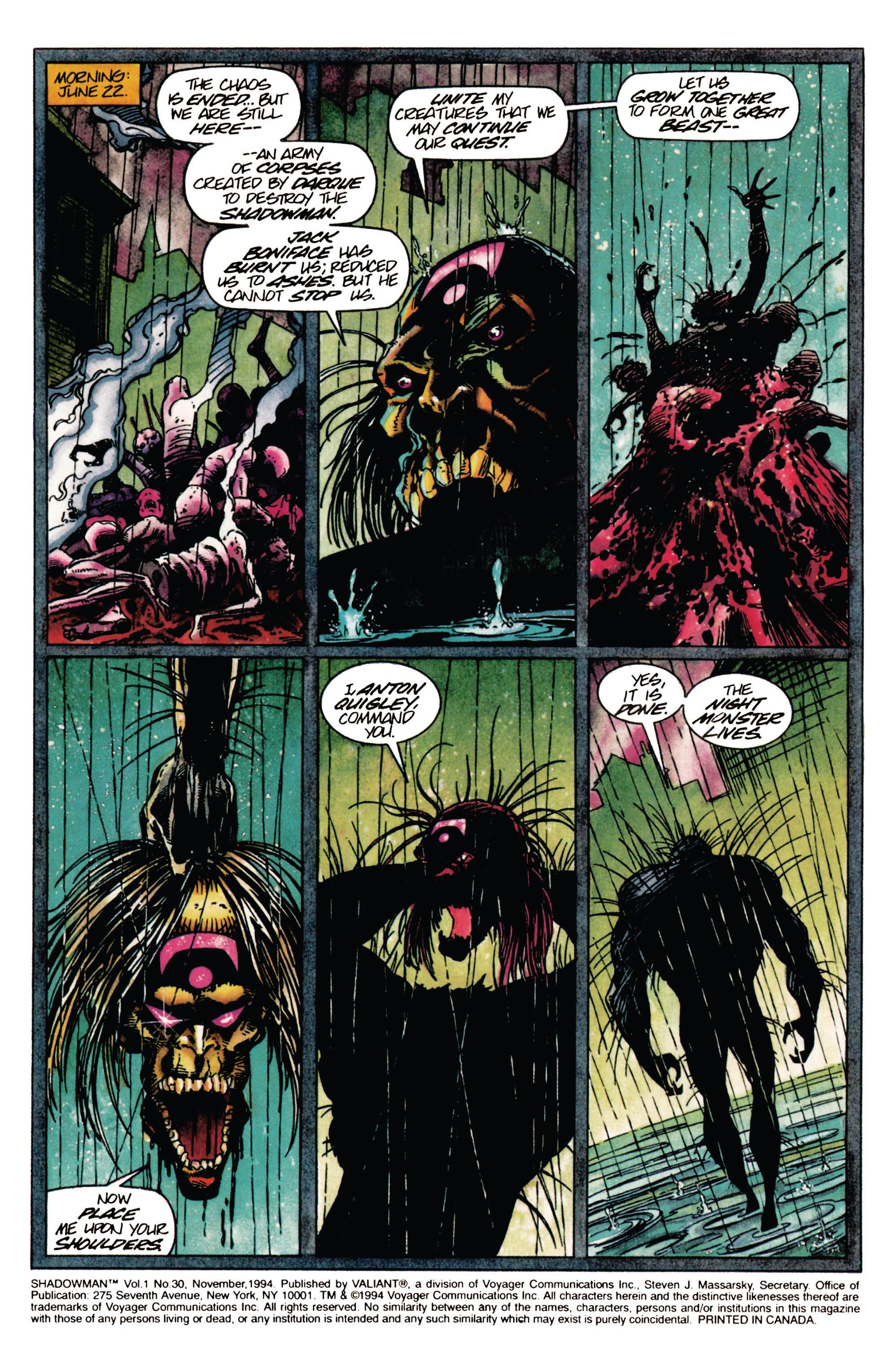 Read online Shadowman (1992) comic -  Issue #30 - 2