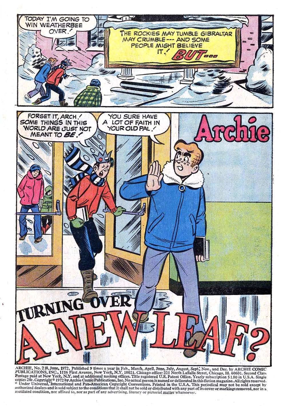 Read online Archie (1960) comic -  Issue #218 - 3