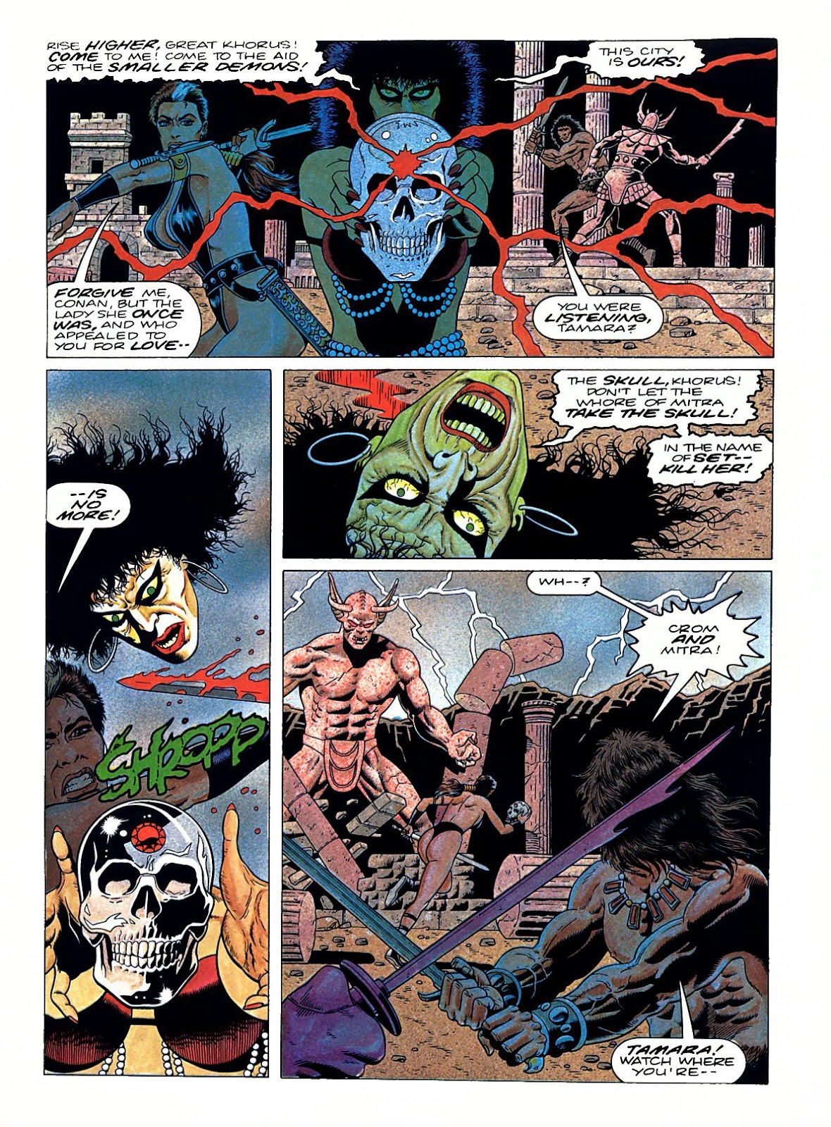 Read online Marvel Graphic Novel: Conan the Barbarian: The Skull of Set comic -  Issue # Full - 50