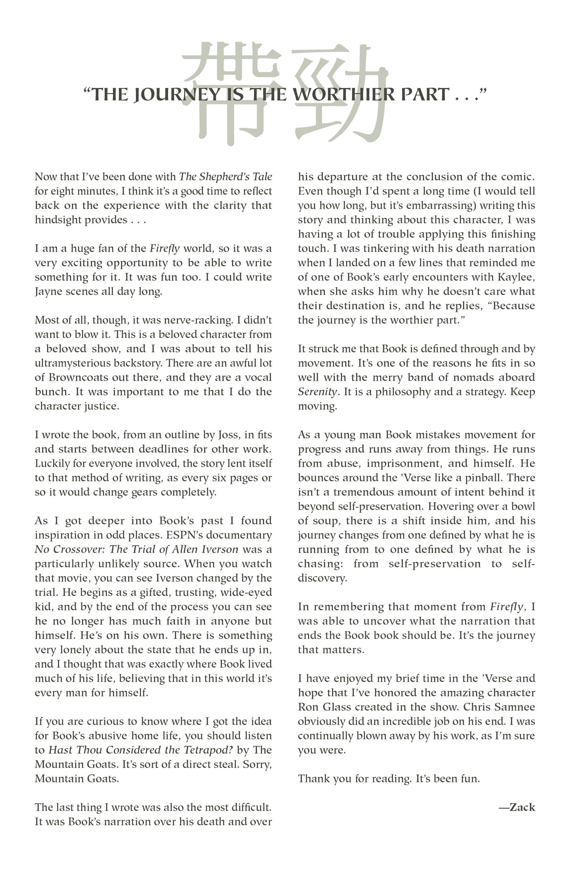 Read online Serenity Volume Three: The Shepherd's Tale comic -  Issue # TPB - 57