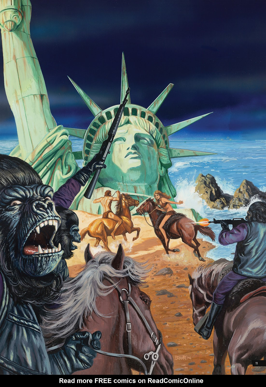 Read online Planet of the Apes Artist Tribute comic -  Issue # TPB - 11
