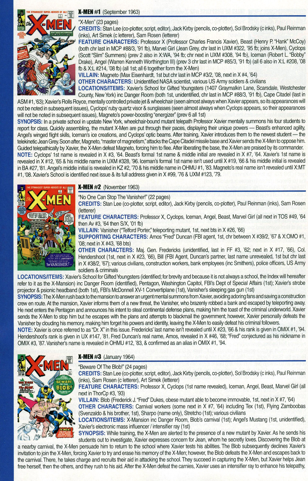 Read online Official Index to the Marvel Universe comic -  Issue #1 - 46